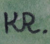 monogramováno KR
