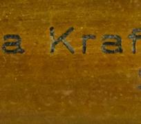 Na rámu štítek Barbara Krafft nata Steiner