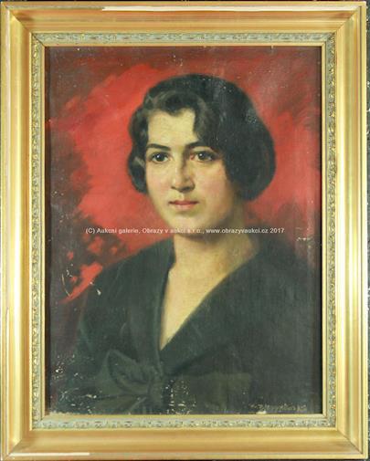 ruský malíř 1. pol. 20. stol. - Portrét ženy