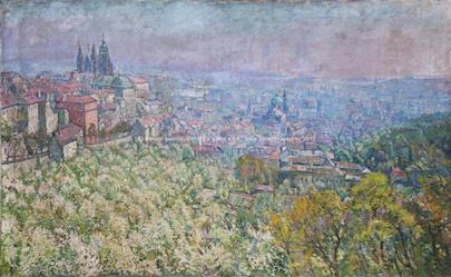 Jan Slavíček - Pražské panorama