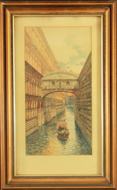 nesignováno - Motiv z Benátek
