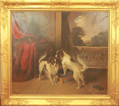 Matthias Johann Ranftl - Dva psi na balkoně