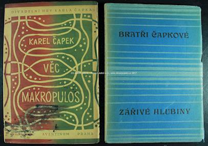 Josef Čapek - Věc Makropulos, Zářivé hlubiny