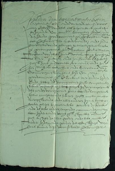. - Stará listina z r. 1634