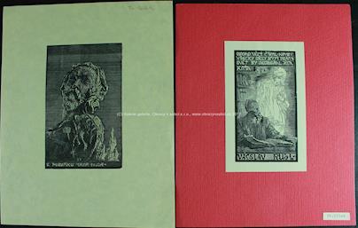 František Bílek - Soubor 2 grafických listů