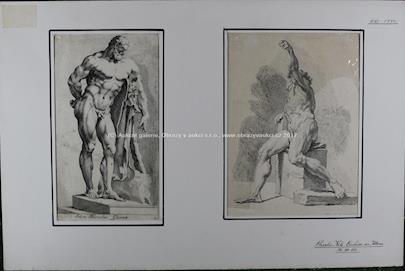 Charles Nikolas Cochin starší - 2 lepty - Herkules