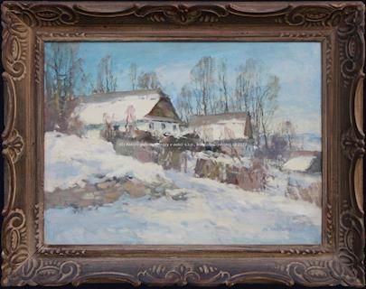 Alois Kalvoda - Chaloupky v zimě