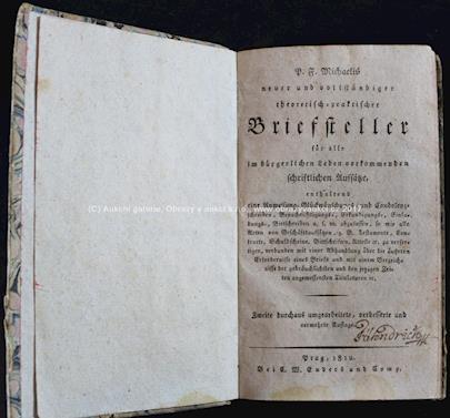 D.F. Michal - Briefsteller für alle im bürgerlichen Leben vorkommenden schriftlichen Auslässe