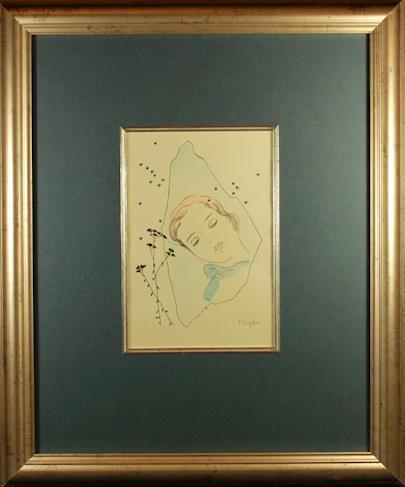 Toyen - Dívka spící pod hvězdami