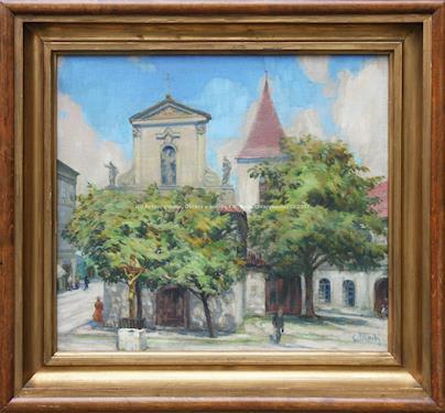 Gustav Mallý - U kostela