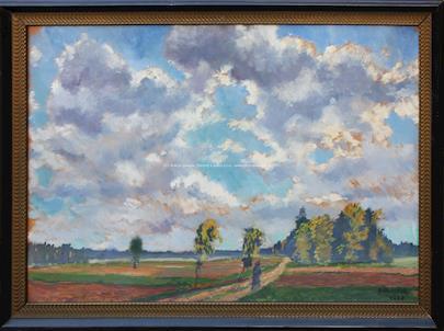 Antonín Hudeček - Cestou v krajině