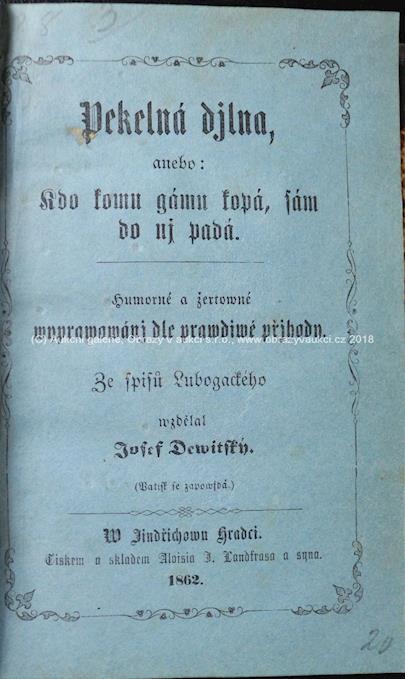 Josef Dewitský - Pekelná dílna