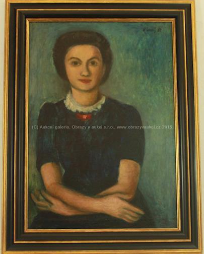 Karel Černý - Portrét paní Wielgusové