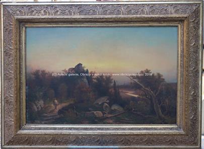 Alois  Kirnig - Krajina s hradem