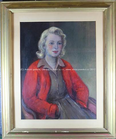Miloslava Vrbová - Dívčí portrét