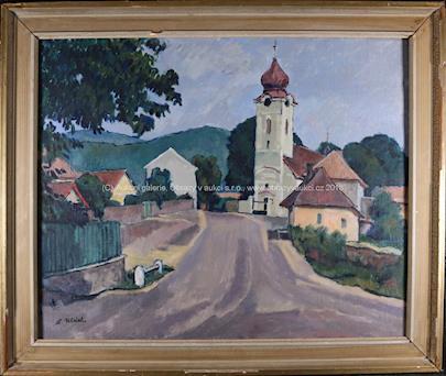 A. Ulrich - Vesnice s kostelíkem