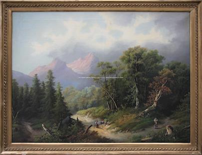 Alois  Kirnig - Romantická krajina