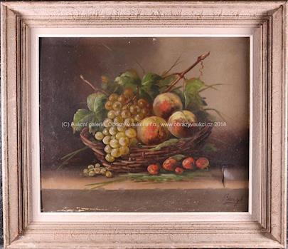 Bargot - Zátiší s hrozny a ovocem