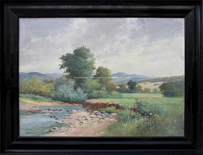 Zdenka Braunerová - Krajina s řekou