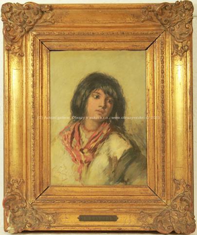 Viktor Alexejevič Bobrov - Portrét dívky