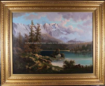Alois Bubák - Jezero v horách