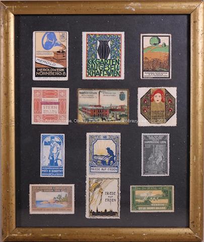 kolem roku 1900 - Sbírka 12-ti zálepek