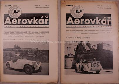 . - Soubor 2 časopisů Aerovkář