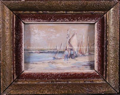 J. Mühl - Rybáři v přístavu