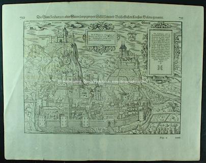 . - Město Sitten ve Švýcarsku 16. stol.