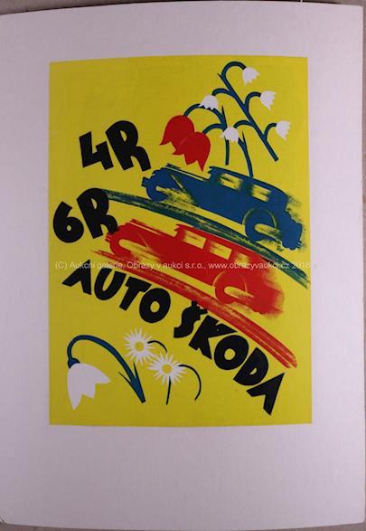 různí autoři - Soubor 3 plakátů: Auto 30. léta 20. stol.