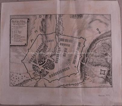 Kaspar Merian - Město Přerov obležené Švédy v srpnu 1643 (Švédské ležení)