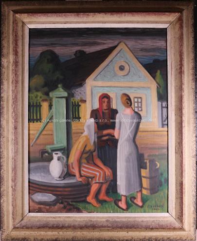 Oldřich  Kerhart - Ženy u studny
