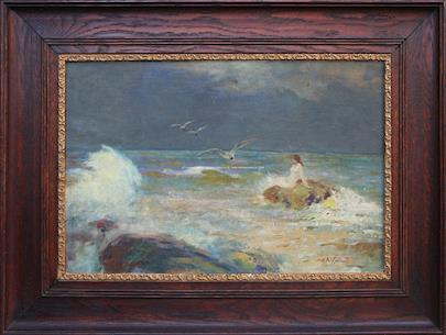 Karel Špillar - Dívka u moře