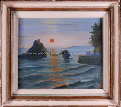 čínský malíř 1.pol. 20. stol. - Západ slunce