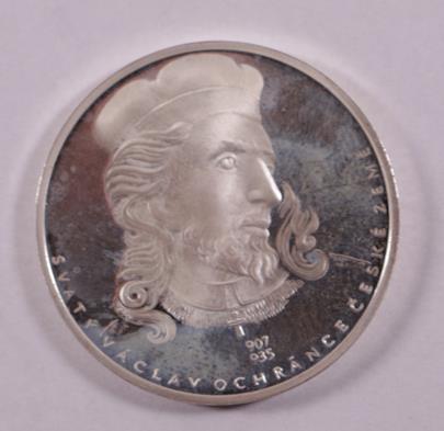 . - Pamětní mince, stříbro 999/1000, punc kamzík, hrubá hmotnost 18,70 cm