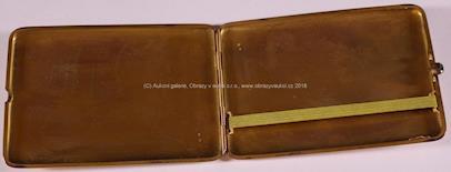 neznačeno - Tabatěrka, zlato, 585/1000, hrubá hmotnost 98,1 g