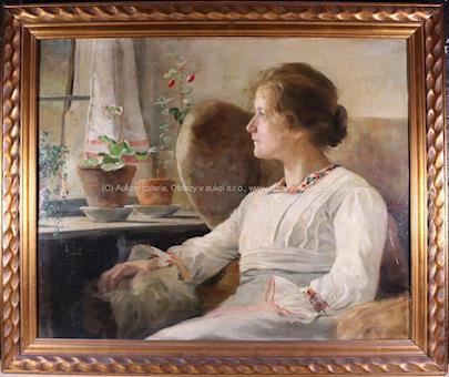 M. Ressel - Dívka v křesle