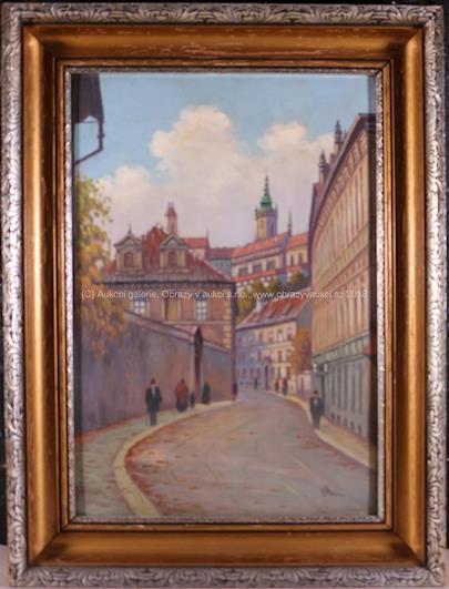 Václav Stein - Valdštejnská ulice na Malé Straně