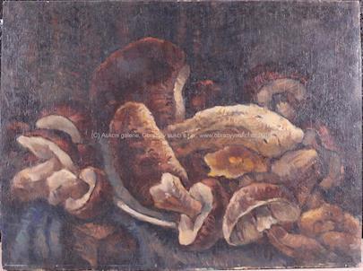 signováno nečitelně - Zátiší s houbami
