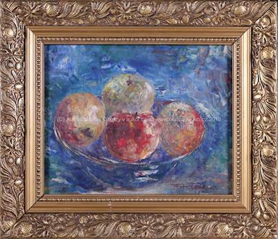 Ferdinand Kotvald - Zátiší s jablky