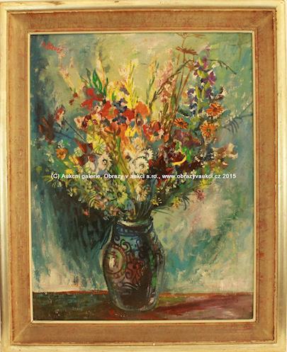 Vincenc Beneš - Kytice v malovaném džbánku