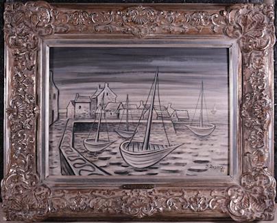 Jan Zrzavý - Bárky v přístavu (Přístav na Ile de Sein)