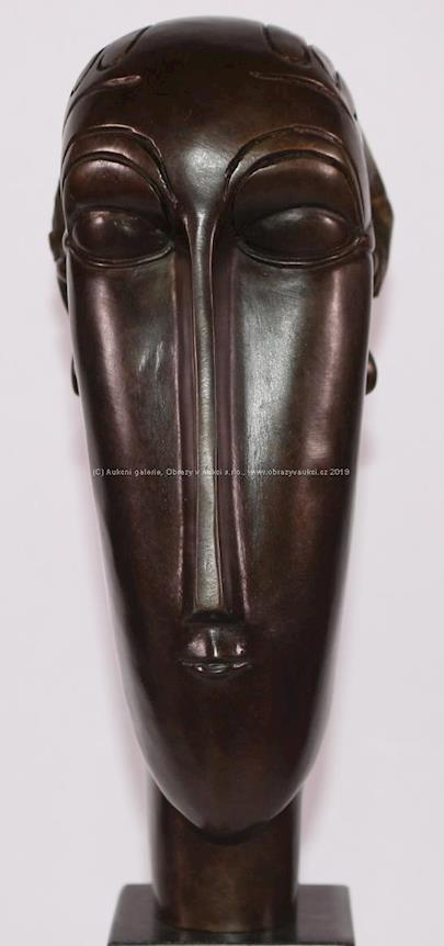 Amedeo Modigliani - Hlava dívky