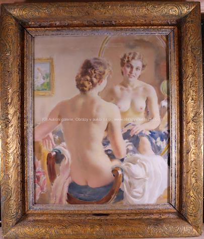 Josef  Loukota - Dívčí akt před zrcadlem