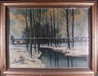 Antonín Hudeček - Potok v zimě