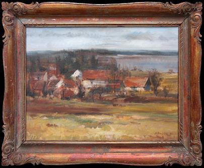 Oldřich  Blažíček - Pohled na vesnici