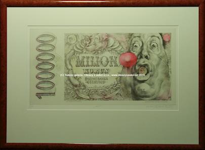 Oldřich Kulhánek - Funny money - soubor 8-mi litografií