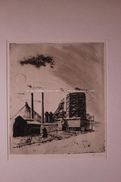 A.J. Alex - Soubor 15 grafických listů s industriálními motivy