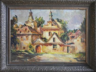 Vincenc Beneš - Pohled na klášter