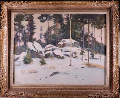 Gustav Porš - Skalka v zimním lese